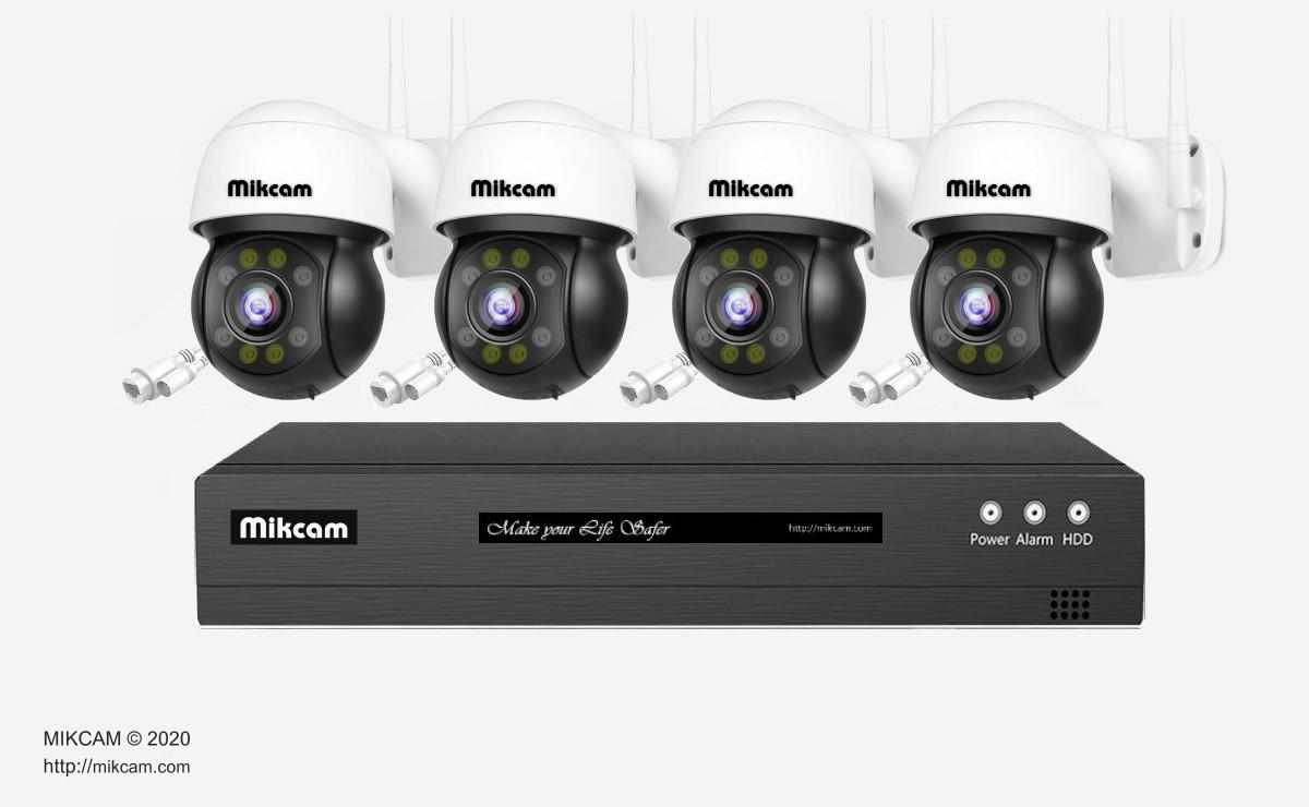 Video Surveillance Kit with H.265 3Mp/5Mp Video Recorder Human/Face detection For Sale - Mikcam