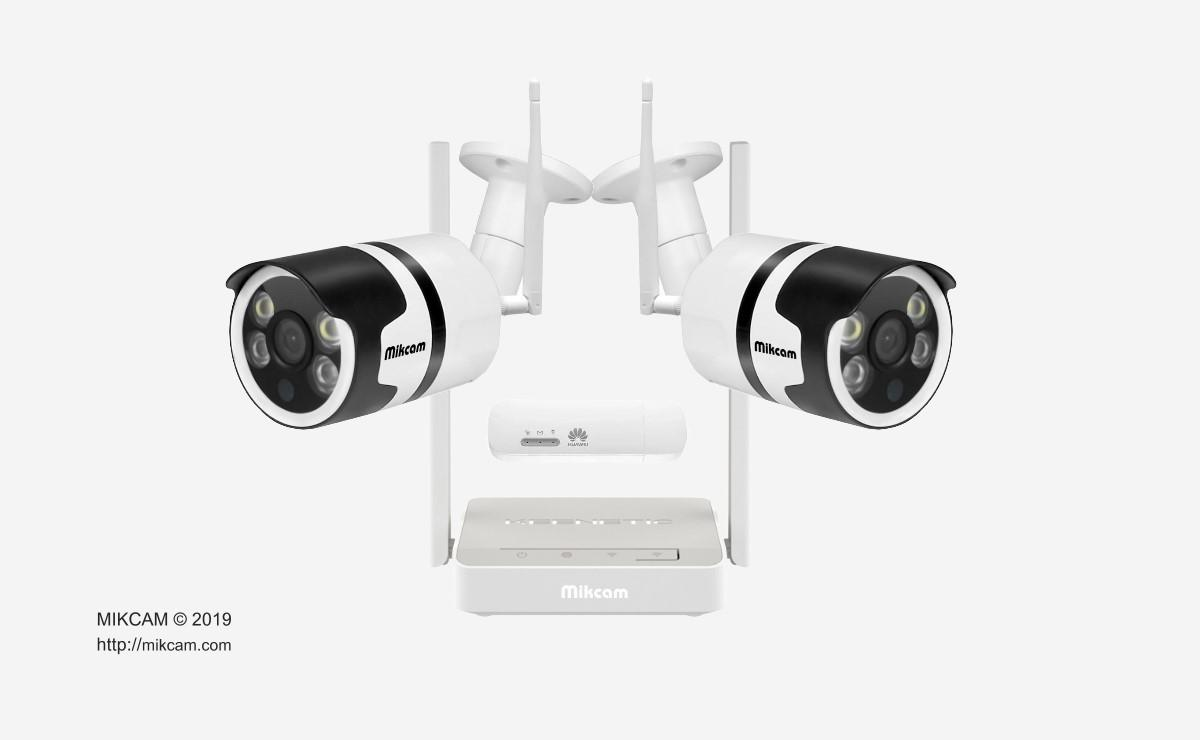 Fully configured Full HD video surveillance system with WiFi modem & 4G LTE router For Sale - Mikcam
